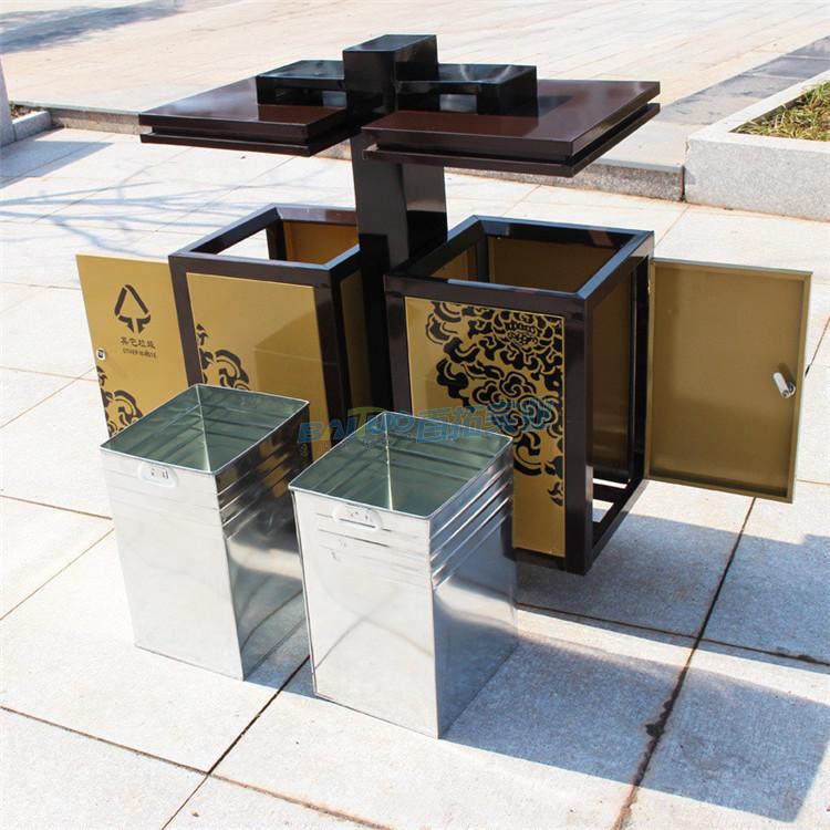 创意室外垃圾桶结构图