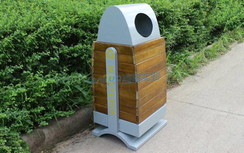 创意公园垃圾桶实物图