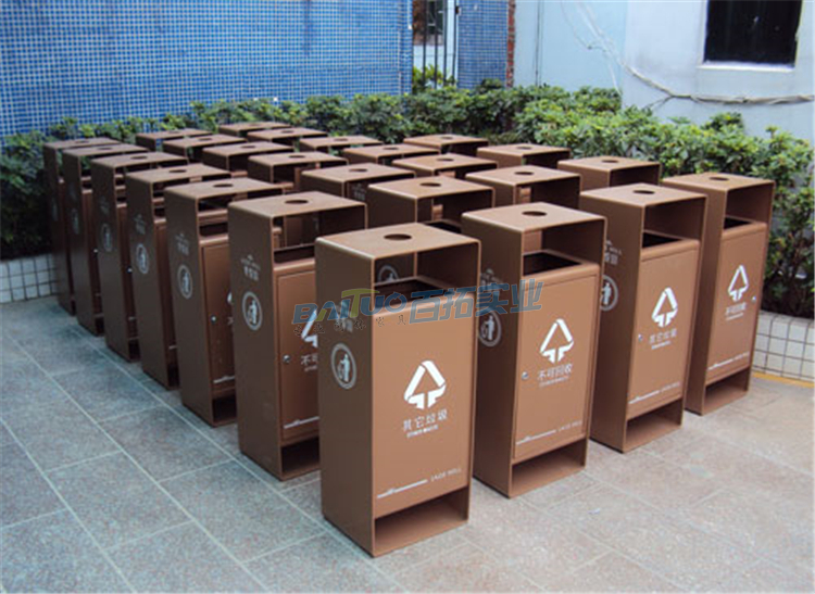 物业小区垃圾桶厂家展示
