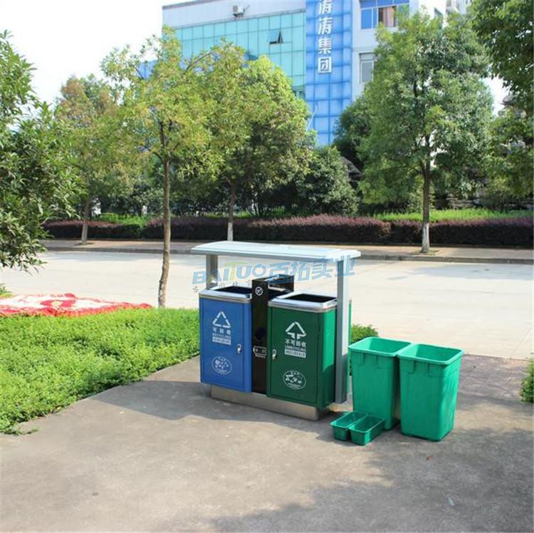 大学公共垃圾桶及内桶展示图