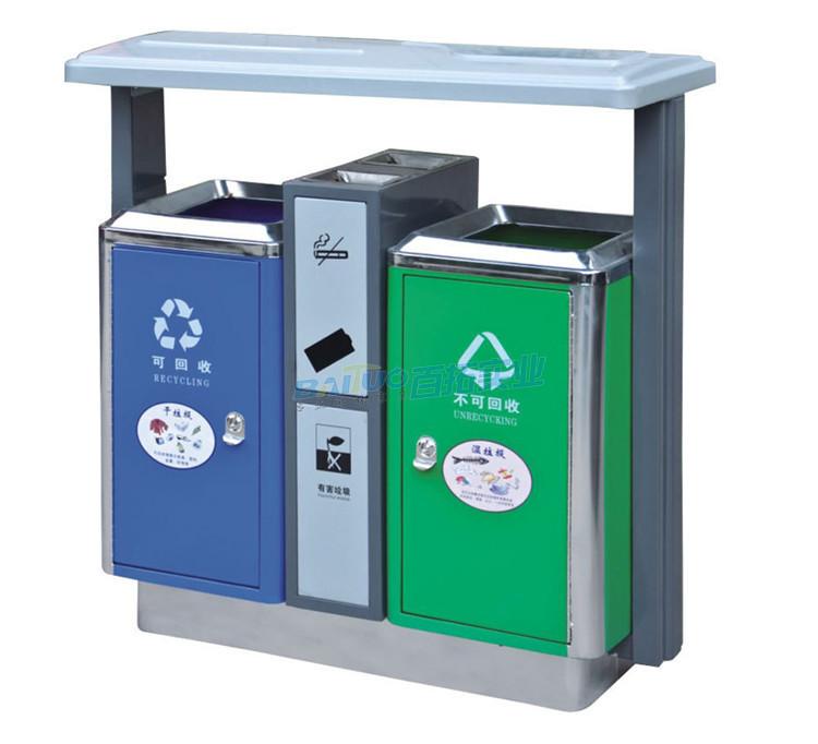大学公共垃圾桶展示图