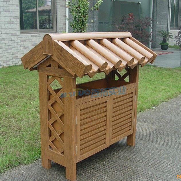 木质室外垃圾桶