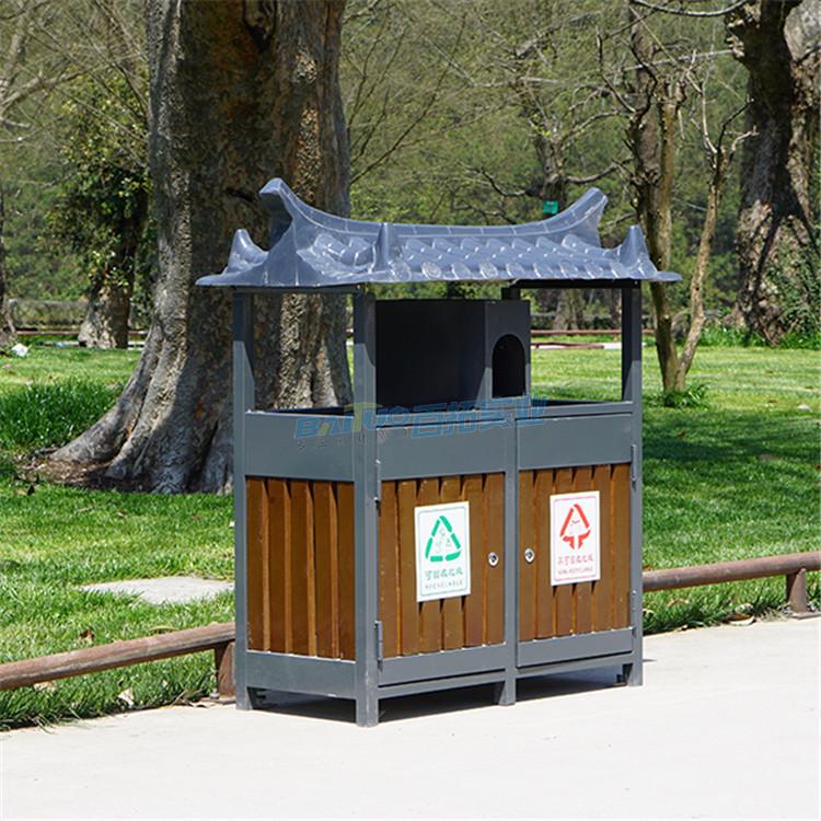 公园创意垃圾桶实物图
