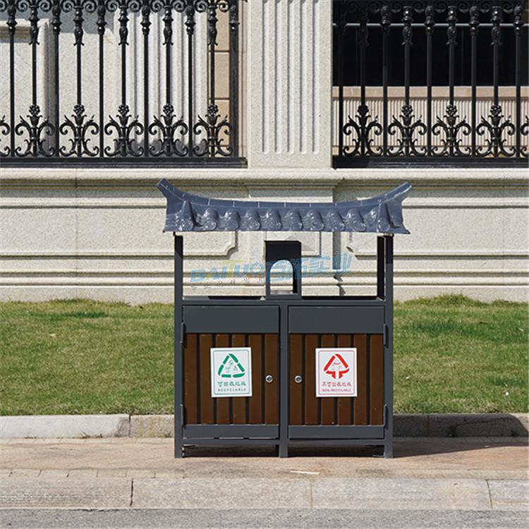 公园创意垃圾桶正面图
