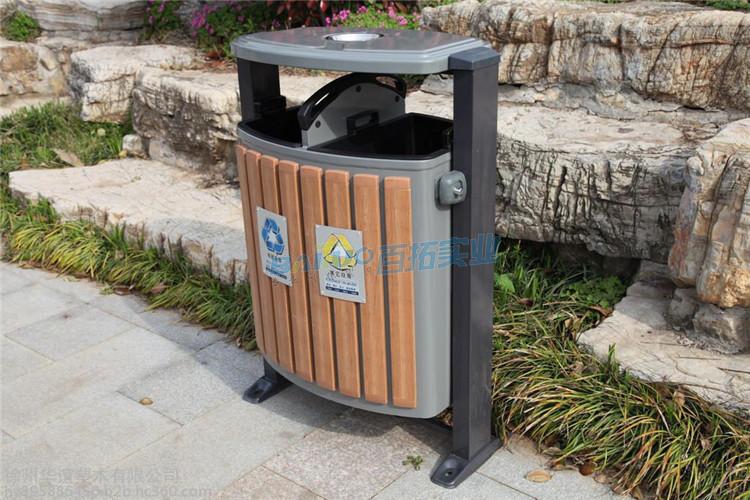 公园垃圾桶烟缸实物图