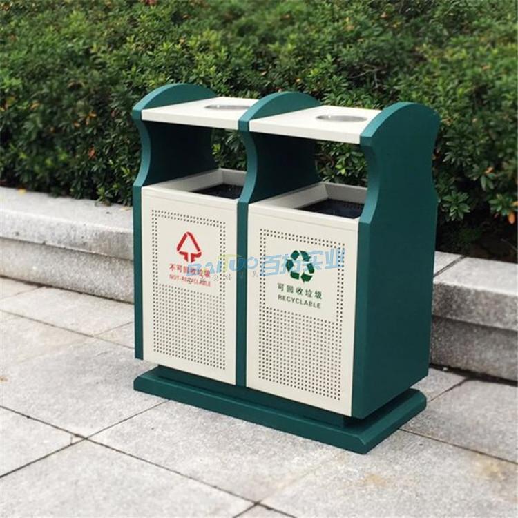 垃圾桶公共设施实物图