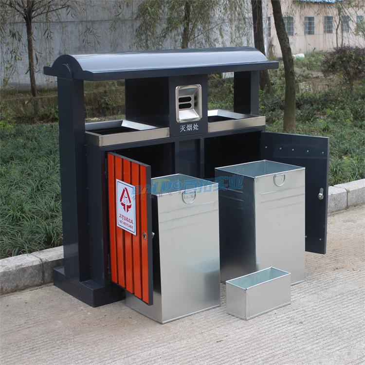 广东公园垃圾桶内部结构