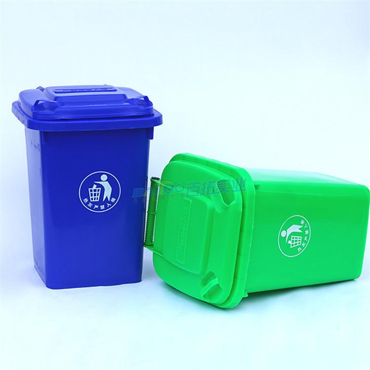 公园绿色垃圾桶展示图