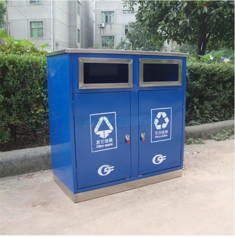 学校卡通垃圾桶实物图