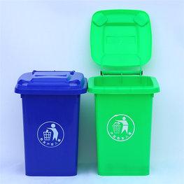 公園綠色垃圾桶