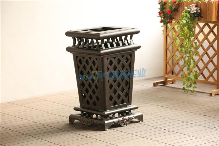 高端室外垃圾桶展示图