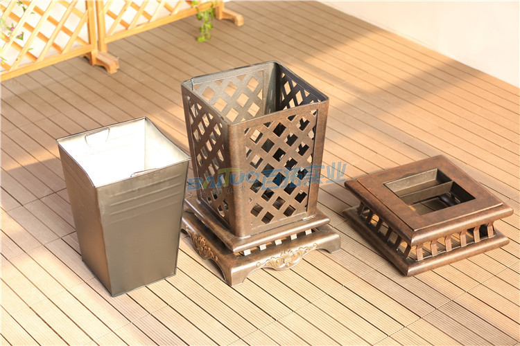 高端室外垃圾桶结构图