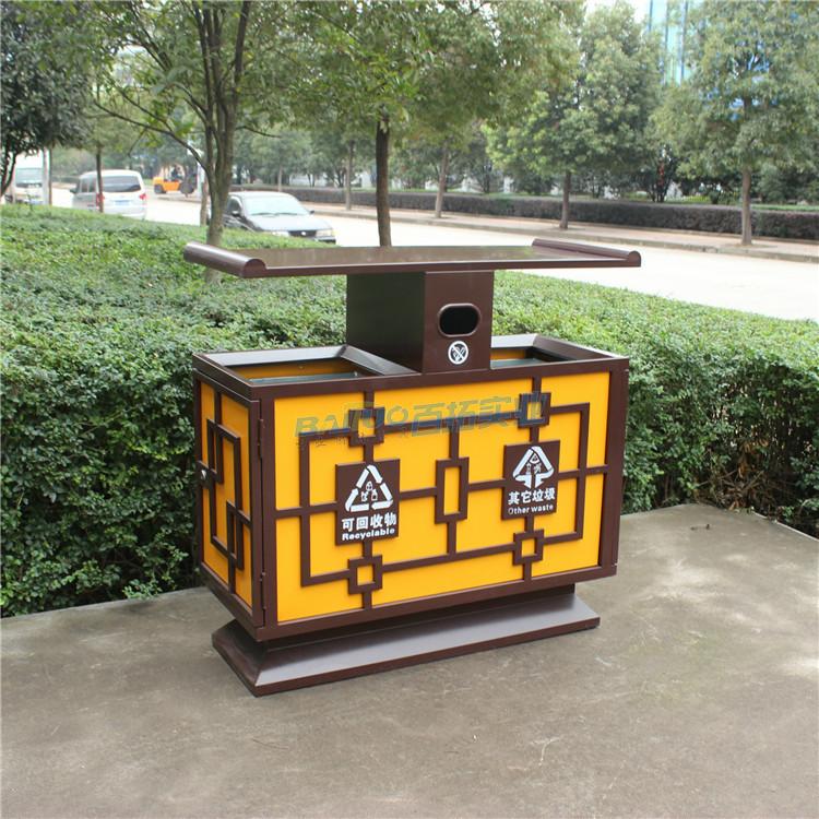 创新公共垃圾桶实物图