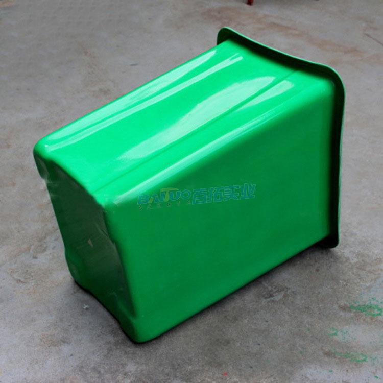 公共小型垃圾桶背面图