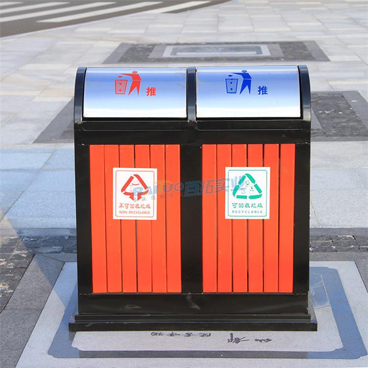 室外活动盖垃圾桶展示图