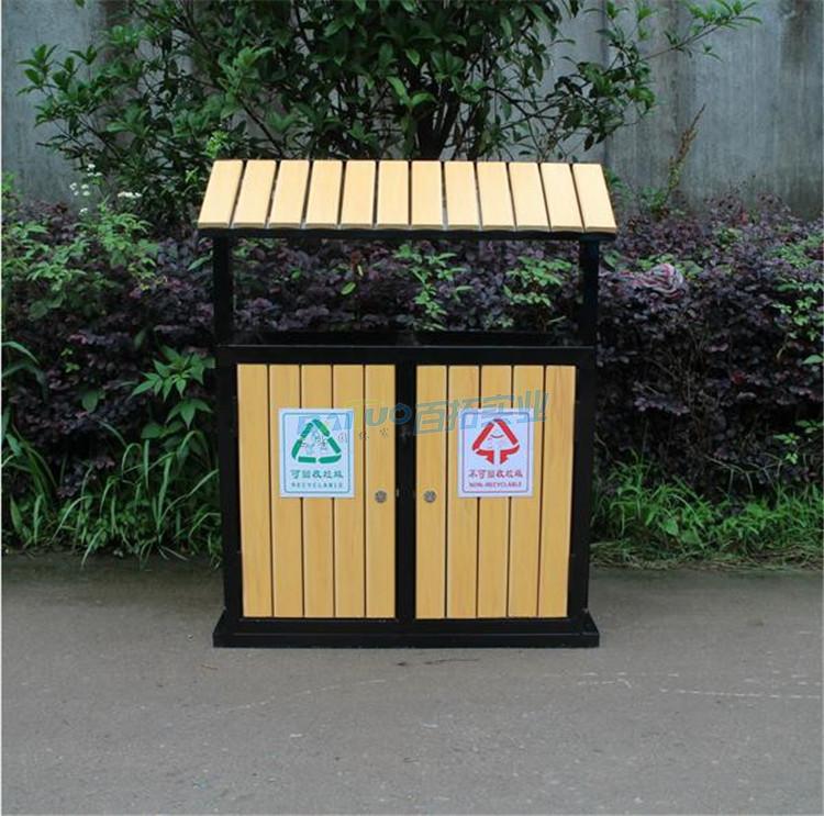 景区室外垃圾桶实物图