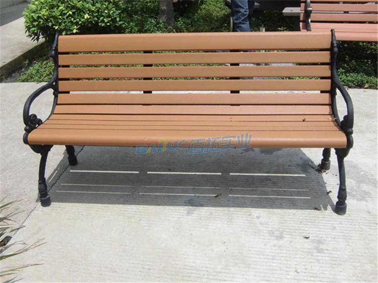 户外实木园林休闲凳实物图