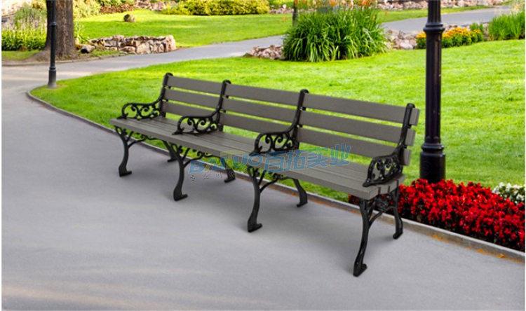 户外实木靠背长凳子可定制