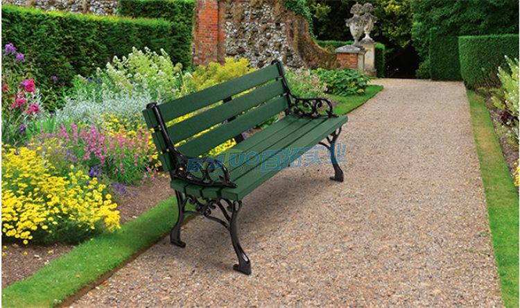 户外实木靠背长凳子颜色可选择