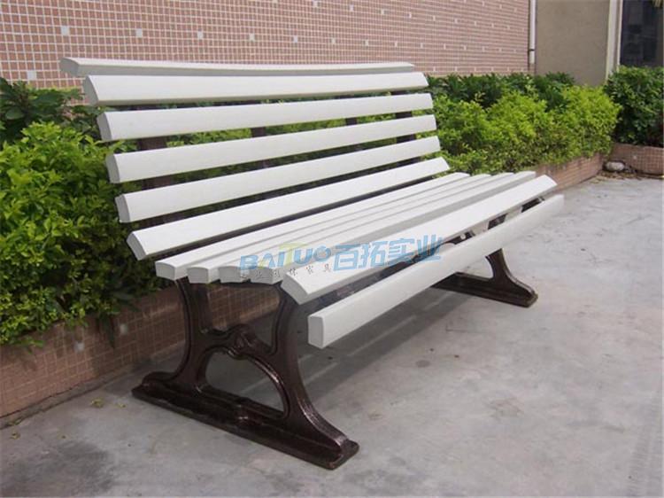 户外公园长凳侧面图