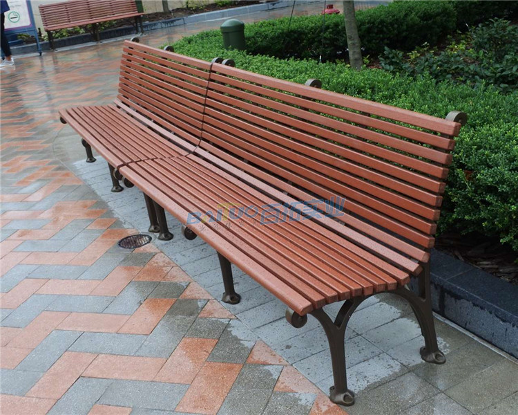 户外樟木坐凳实物图