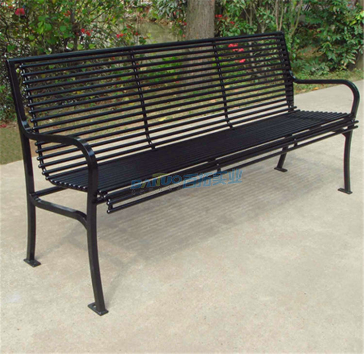铁艺公园长凳