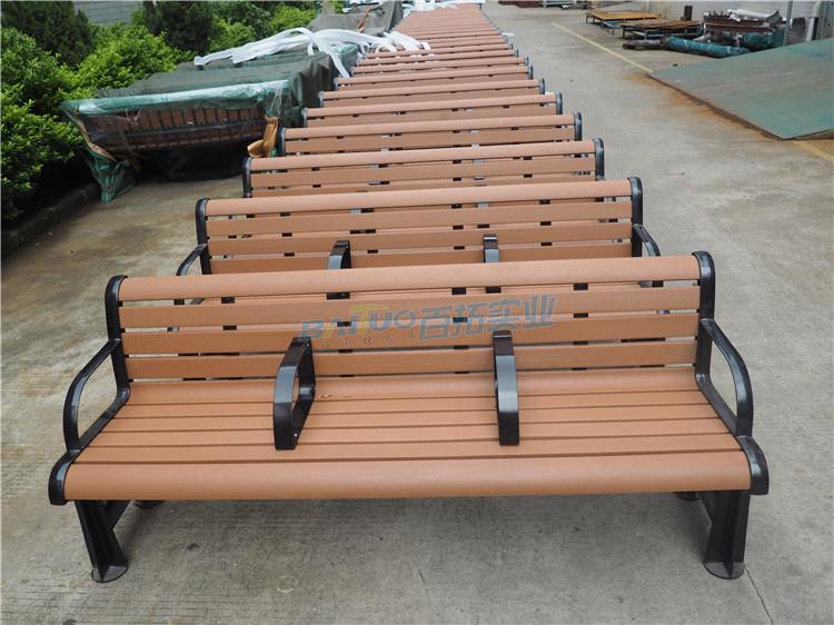 户外木塑板凳正面展示