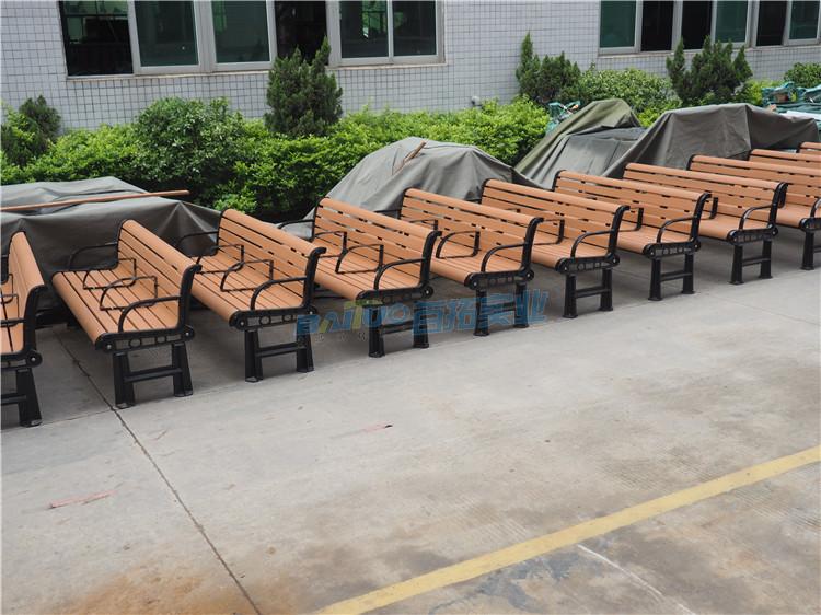 户外木塑板凳厂家侧面展示图