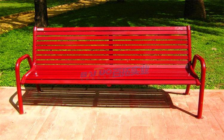 公园坐凳实物图