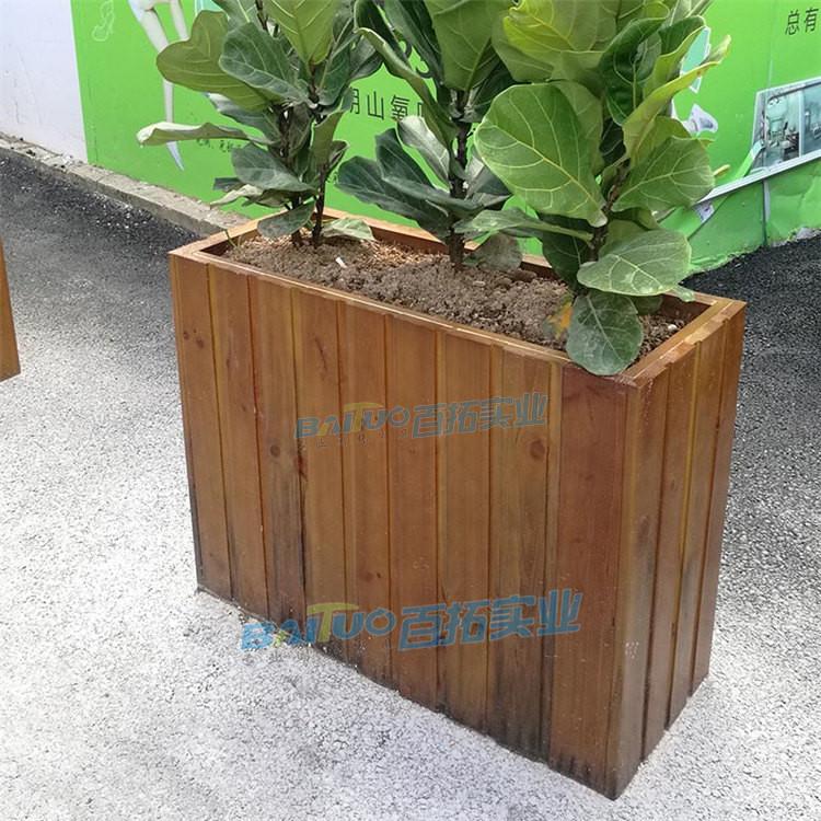 户外木质花箱