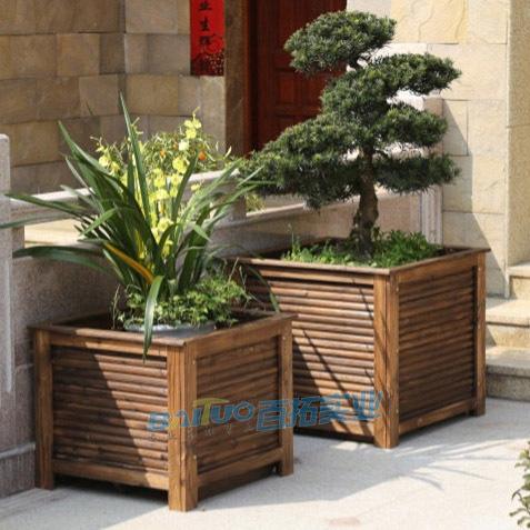 户外木制花箱