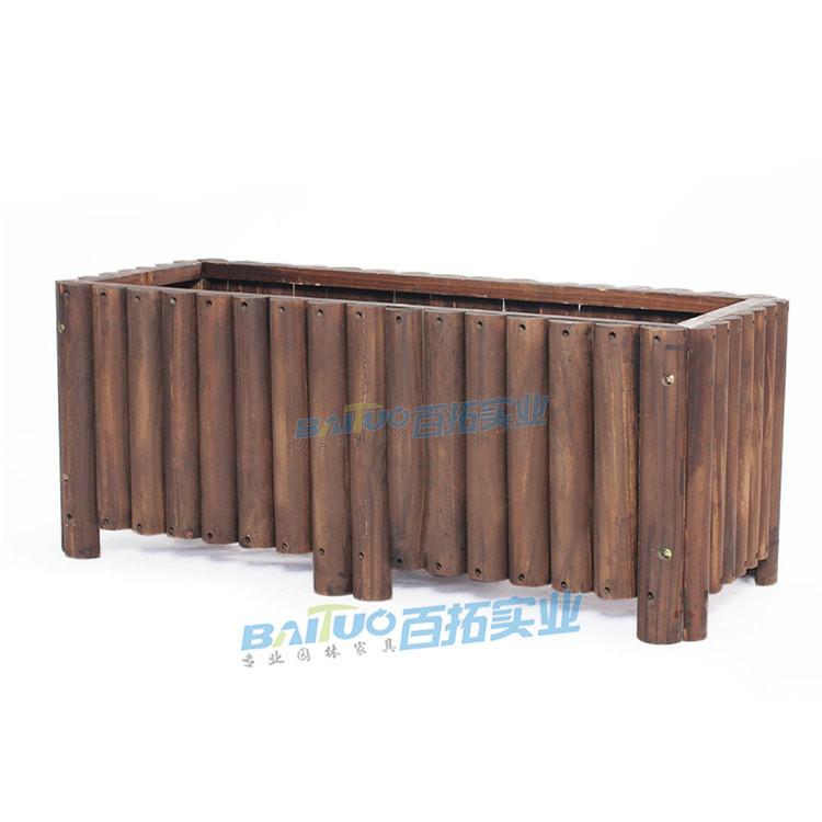 防腐木组合花箱展示图