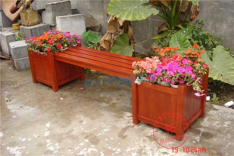 实木组合花箱侧面展示图