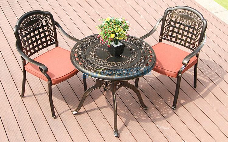 铸铝户外桌椅买家展示