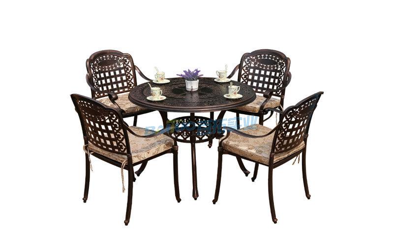 铸铝户外桌椅展示图