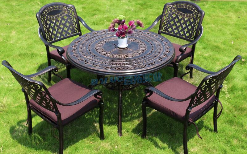铸铝户外桌椅案例图