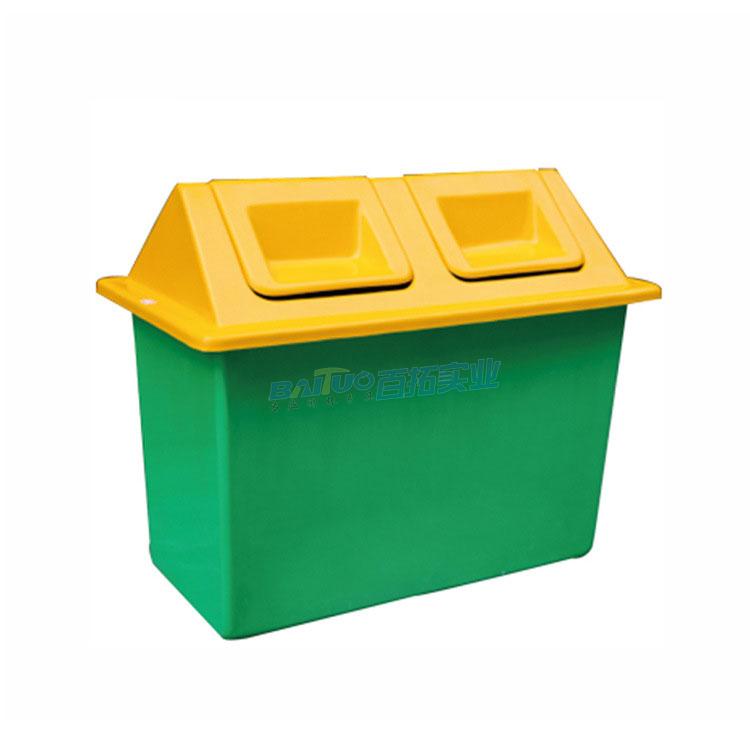 公共垃圾桶翻盖展示图