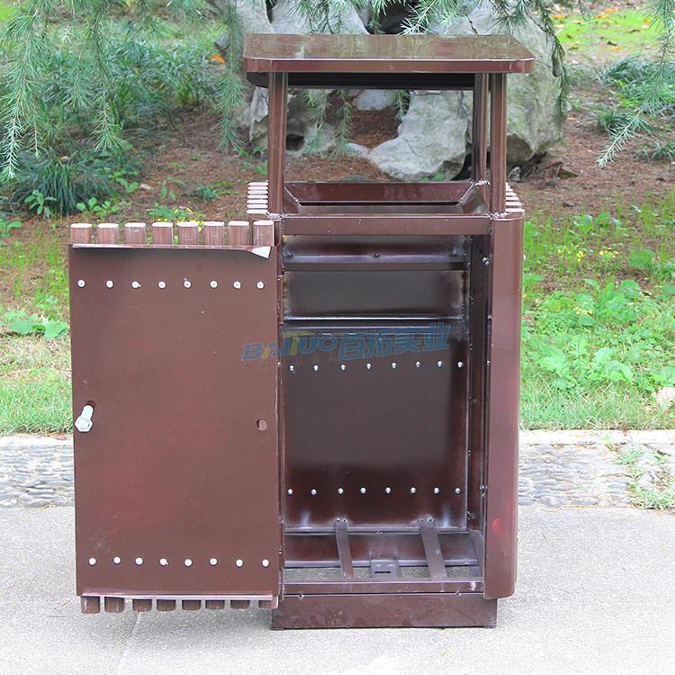 特色垃圾桶景区专用背面展示