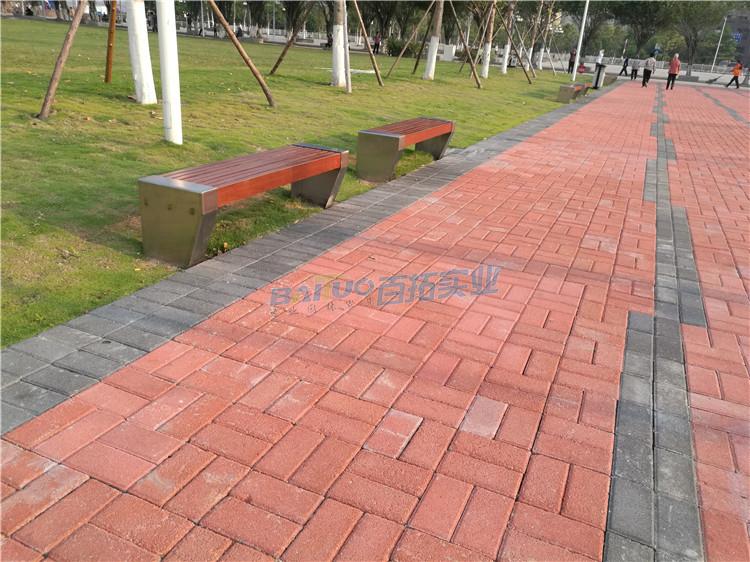 公园板凳远景效果图