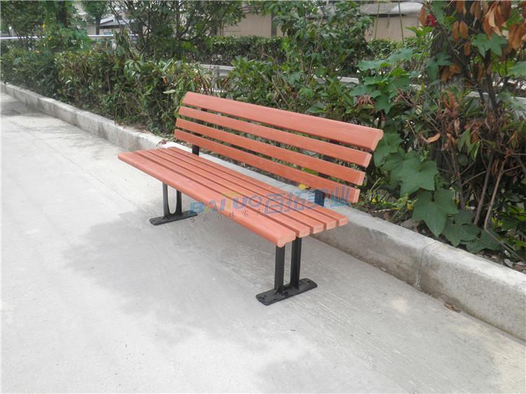 公园休闲凳子安装效果图