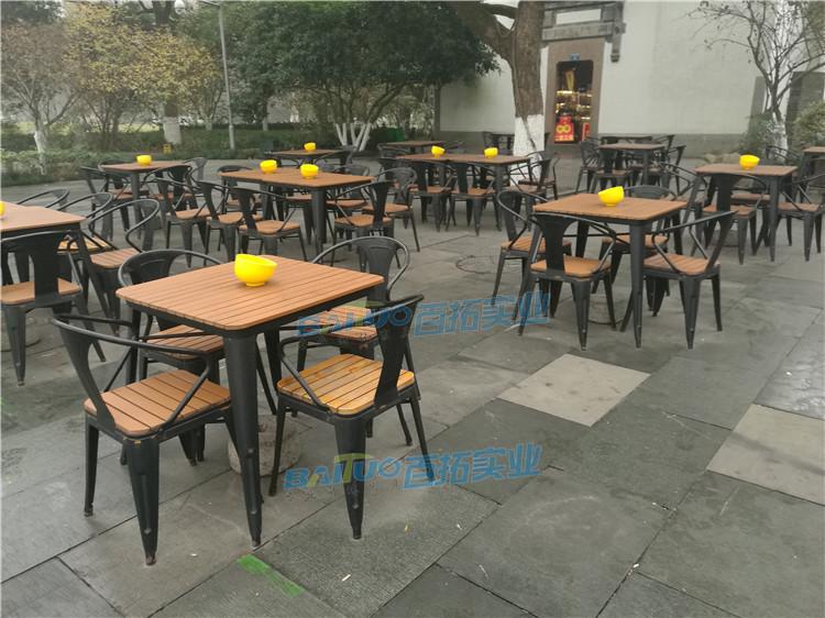 户外休闲桌椅组合方形展示图