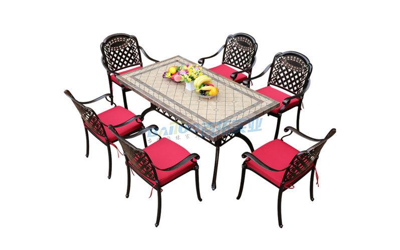 户外铸铝桌椅商品展示图
