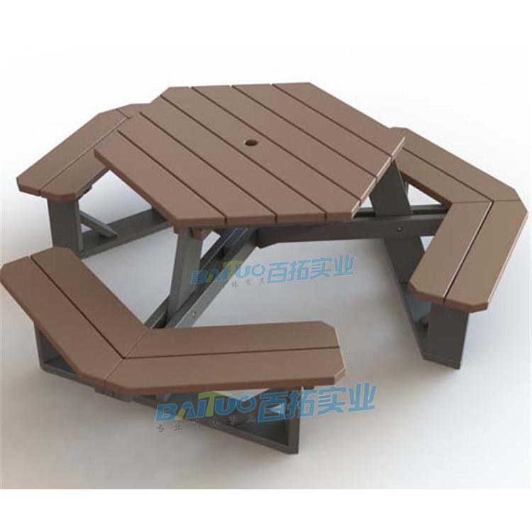 户外桌椅太阳伞展示图