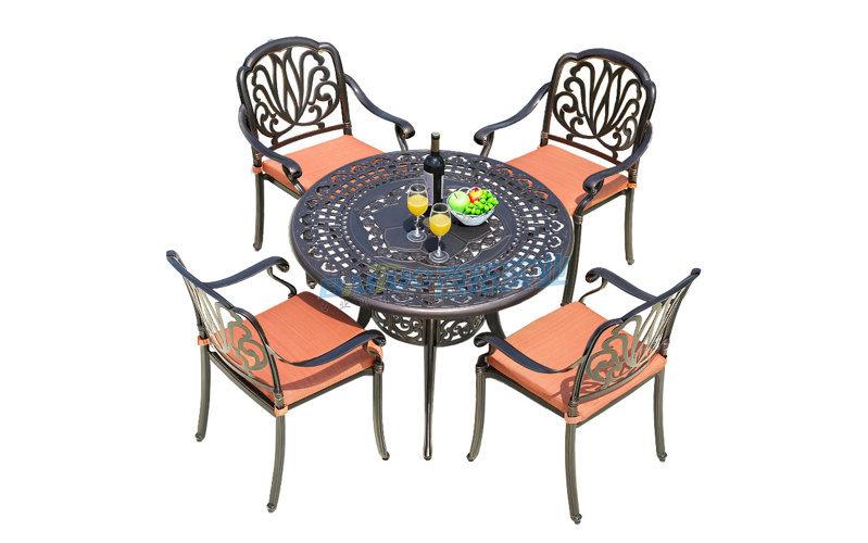 户外铝合金桌椅展示图