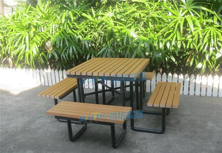 户外塑料桌椅展示图