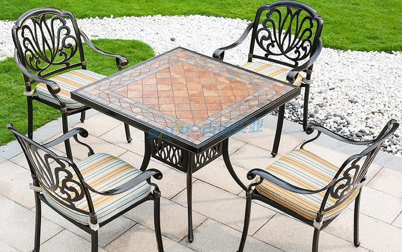欧式户外桌椅花纹可定制