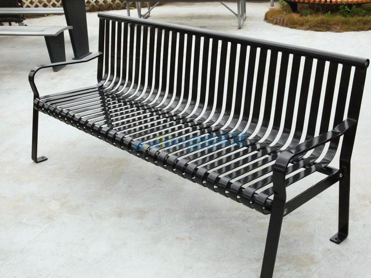 公园成品铁艺坐凳成品展示图