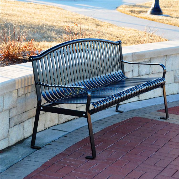 公园成品铁艺坐凳可定制