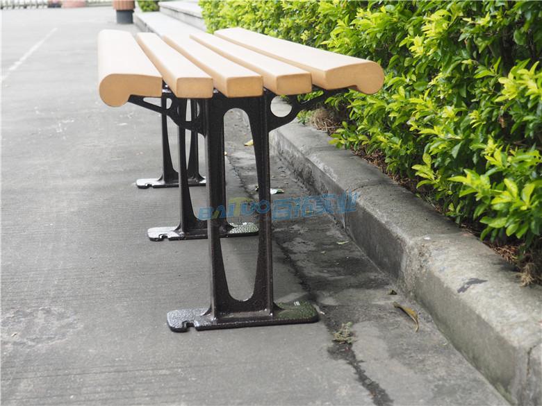 无靠背公园椅休闲凳侧面展示图