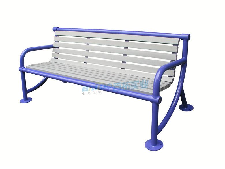 公园长条木凳产品展示图可定制颜色